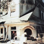 Earthquake-damaged home