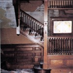 Staircase damaged in earthquake